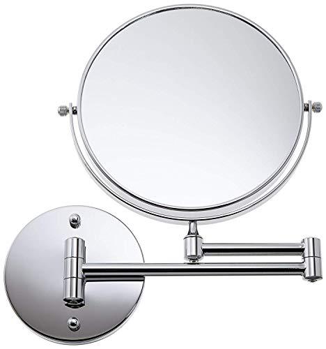 Loywe 10 Fach Normal Kosmetikspiegel Schminkspiegel Rasierspiegel klappbar Wandspiegel LW34 (10 Fach)