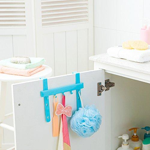 Generic Bluee: Gancho para puerta de almacenamiento de almacenamiento para guardar la habitación o la toalla, organizador de plástico para colgar brochas, organizador de pared, 1 gancho para puerta de almacenamiento