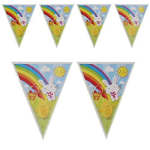 Widdle Lente Pasen Kamer Decoraties, Banners, slingers - Bunny Chick Vlag Bunting