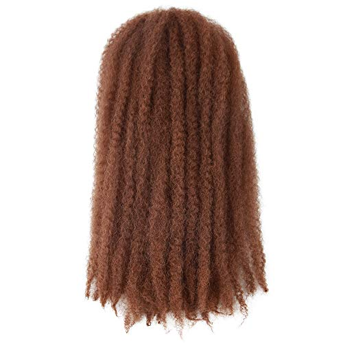 Marley Hair 4 Packs Afro Kinky Curly Crochet Hair 18 Inch Long Marley Twist Braiding Hair Kanekalon Synthetic Marley Braids Hair Extensions for Women Color 30