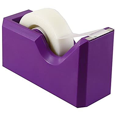 JAM Paper Colorful Tape Dispensers - 4 1/2  x 2 1/2  x 1 3/4  - Purple - Sold Individually