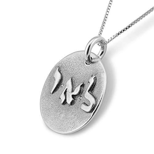Positive Energie Sterling Silber Münze Amulett an Box Kette Halskette - 50 cm lang - Schmuck für Damen und Herren