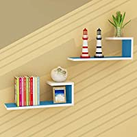 LXD ブックケース、本棚の木製のパネル素材の壁掛けリビングルームの壁棚モダンなミニマリストの装飾的なフレーム、9色,9