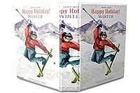 バインダー 2 Ring Binder Lever Arch Folder A4 printed Happy Holiday