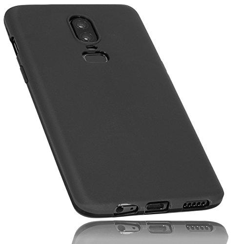 mumbi Hülle kompatibel mit OnePlus 6 Handy Hülle Handyhülle, schwarz