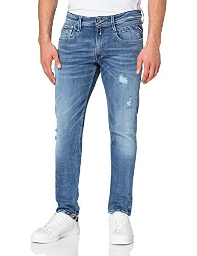 REPLAY Anbass Jeans, 009 Blu Medio, 28W x 34L Uomo