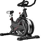 SAFGH Bicicleta de Ejercicio Bicicleta de Ciclismo de Interior Bicicleta de Fitness Estacionaria Todo Incluido Bicicleta de Volante con Resistencia para Gimnasio Máquina de Entrenamiento cardiovas