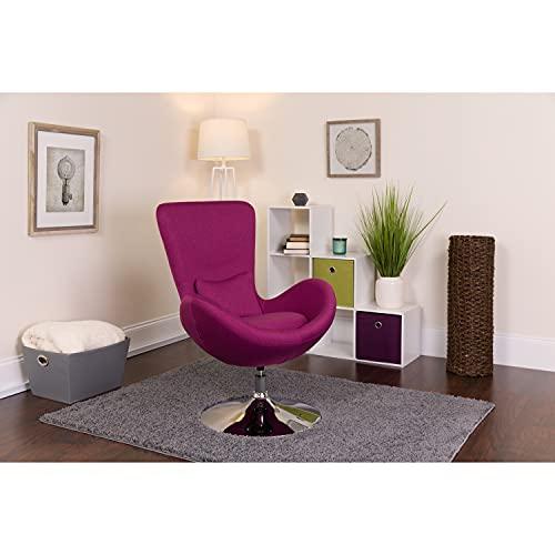 Flash Furniture Egg Series Magenta Fabric Side Reception Chair