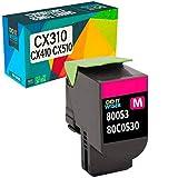 Do it wiser kompatible Toner als Ersatz für Lexmark CX410de CX310dn CX510de CX310n CX310 CX410dte CX410e CX510dthe CX510dhe 80C2SM0 (Magento)