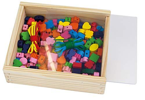 SIMM Spielwaren Lena 32020 – Perles en Bois boîte en Bois