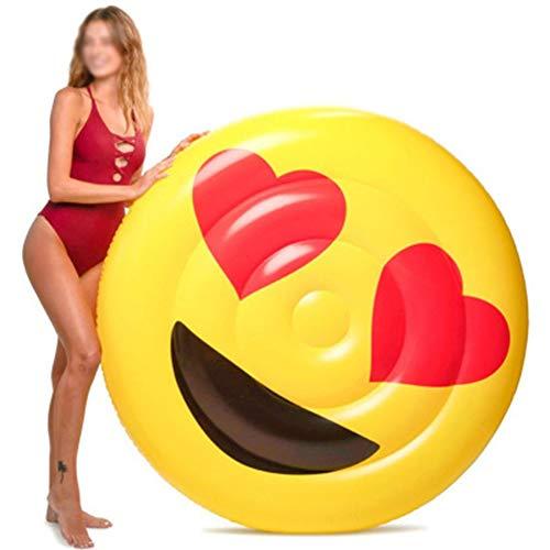 YUANZHU Smiley Face Water Lounge, aufblasbarer Pool Float Island Hängematte Summer Beach Pool Party Spielzeug Perfekt für Erwachsene und Kinder
