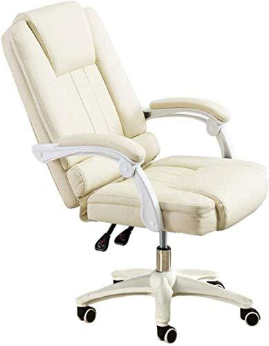 XiYou Silla de Juego, computadora de Carreras, Silla de Oficina, Silla de Jefe sedentario, diseño reclinable de 145 °, reposabrazos de una Pieza, sillón (Rosa)