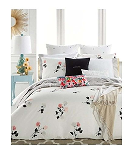 Kate Spade Willow Court Queen/Full Comforter Set, Pink Peach Black Floral