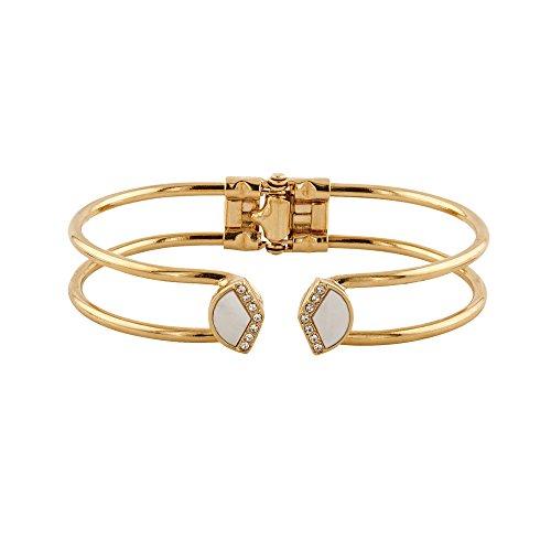 Buckley London Damen Armschmuck Messing vergoldet mit Kristallen und Perlmutt Messing Glänzend Perlmutt gelb 430060046