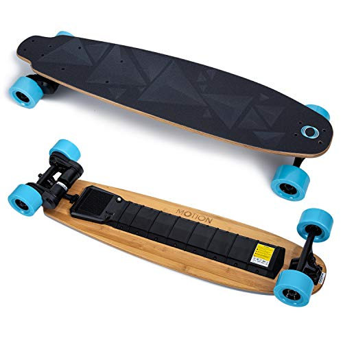 MOTION 38'' Electric Skateboard & Longboard with Remote Controller. Bamboo Deck, 23 MP/H Top Speed,10 Miles Range