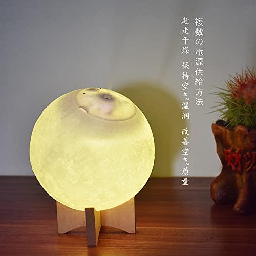 Large capacity moon lamp humidifier, silent creative Moon 3D night lamp atomizer (15 * 15 * 17cm)