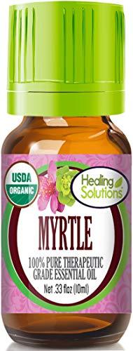 Organic Myrtle Essential Oil (100% Pure - USDA Certified Organic) Best Therapeutic Grade Essential Oil - 10ml