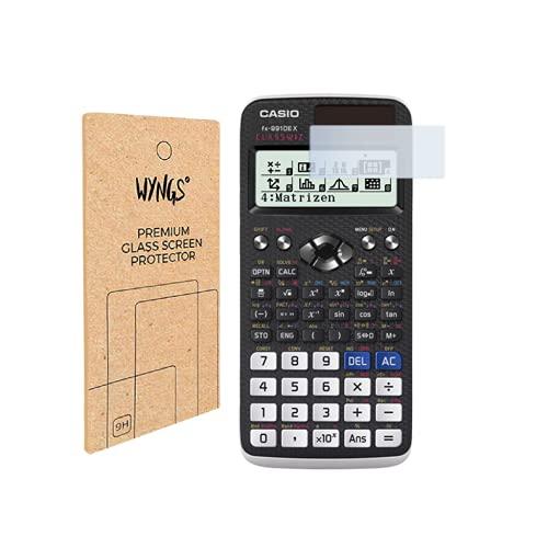 WYNGS Panzerglas Displayschutzfolien kompatibel mit Casio FX-991DE X wissenschaftlicher Taschenrechner (2 Stück)