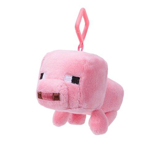 Minecraft 16687 MINECRAFT-16687-Mini-Plüsch mit Clip-Baby Schwein-Welle 1