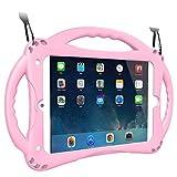 TopEsct Funda para iPad Mini Niños Shock Proof Material Silicona Lightweight Kids Protector Cover Case con Manija para Apple iPad Mini 5/Mini4/Mini3 / Mini2 / Mini1 (iPad Mini, Rosado)