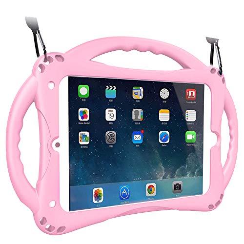 [Neues Design] TopEsct iPad Mini Case Kinder Anti-Shock Stoßfest Griff Ständer Schutzhülle für iPad Mini, Mini 2, Mini 3 iPad Mini 4 und iPad Mini 5 2019(iPad Mini,Rosa)