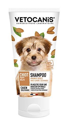 Vétocanis - Shampooing Entretien pour Chiot - Extrait d'Amande Douce - Formule 0% Parabène 0% Silicone - PH Neutre - Fabriqué en France - 300 ml