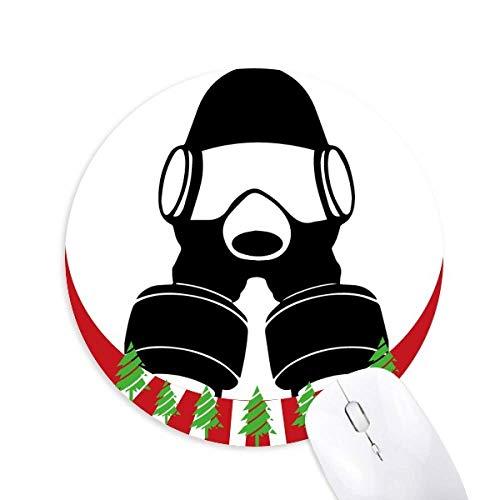 Verschmutzung Die Special Arms Gasmaske Rund Gummi Maus Pad Weihnachtsdekoration