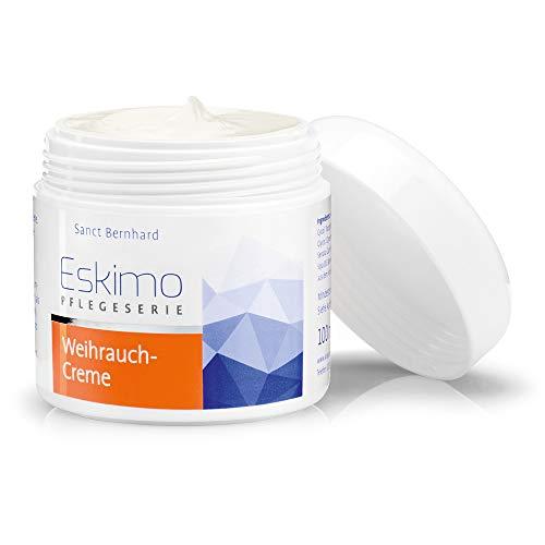 Sanct Bernhard Eskimo-Weihrauch-Creme für trockene Haut mit Urea, Vitamin E, Panthenol, Weihrauchöl, Weihrauchextrakt - Inhalt 100 ml