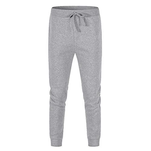 N\P Color sólido de los hombres de otoño e invierno de los deportes de fitness pantalones de los hombres casual de forro