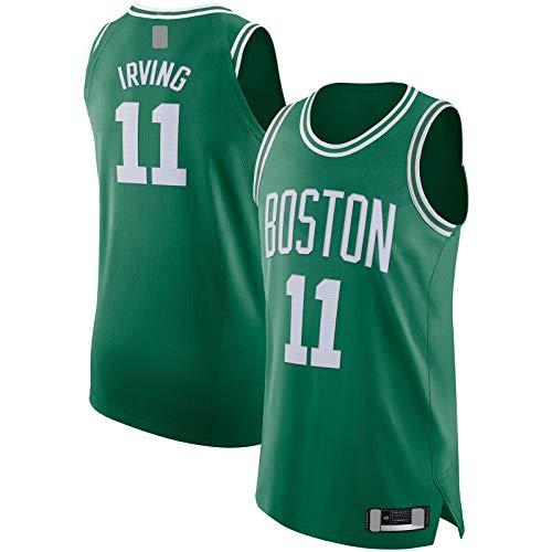 OYFFL Kyrie Embroidery Irving Jersey de baloncesto Boston Traning Jersey Celtics Sudadera #11 Jugador Jersey Kelly Verde - Icono Edition-L
