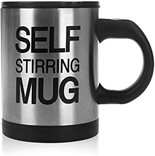 Automatic Electric Self Stirring Mug Coffee Mixing Drinking Cup Stainless Steel 350ml