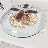 TWGDH New Food Spritzschutz Mikrowelle Hover Anti-Sputtering-Abdeckung Ofen Öl-Kappe Beheizte Siegelplastikabdeckung Geschirr Geschirr Lebensmittel Abdeckung