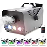 Fog Machine with Lights Wireless Remote Control, Smoke Machine with 7 Colors Lights