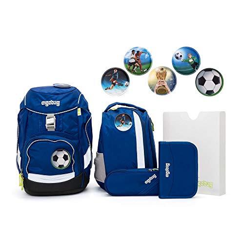 Ergobag Pack Set 6tlg SchlauBär mit Wunschkletties Fußball