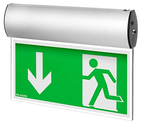 Notleuchte LED Decke Wand Notbeleuchtung Rettungszeichenleuchte Fluchtwegleuchte Notlicht Brandschutzzeichen Rettungszeichen (Pfeil nach rechts)