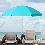 KITADIN 6.5FT Beach Umbrella Portable Outdoor Patio Sun Shelter...