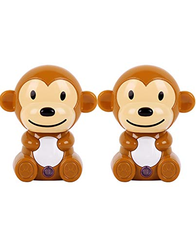 2 Pack-Cartoon Monkey Shaped LED Plug-in Night Light for Kids - Wall Lamp Take Good Care Children Sleep Light Sensor Auto Controlled Nightlights for Baby Nursing