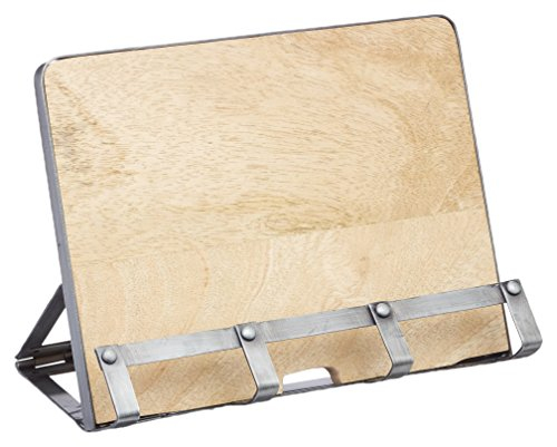 Kitchen Craft Kochbuchständer Industrial Kitchen 24x18,6cm, Metall, Grau/beige, 30 x 18 x 18 cm