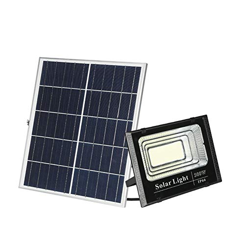 LED Solar Foco Proyector Control Remoto, Paneles Solares Impermeables IP66 Exteriores Luces...