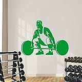 JJHR Wandtattoos Wandaufkleber Gym Fitness Wandaufkleber Sport Mann Gewichtheben Kunst Wandtattoo...