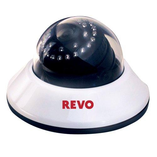 REVO America RCDS30-2A 660 TVL Indoor Dome Camera with 80-Feet Night Vision (White/Black)