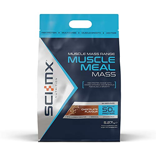 SCI-MX Nutrition Muscle Meal Mass Protein Powder Shake, Chocolate, 5.27 kg, (34 Servings)