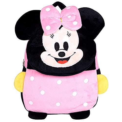 Mochila Infantil Hilloly Mochila Minnie Mochilas Escolares Material Escolar para Niñas Mochila Infantil con Mickey Mouse en 3D Mochila Rosa de Gran Capacidad Regalos para Niñas