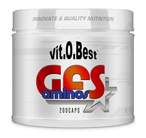 Aminoácidos Esenciales GFS AMINOS Powder Polvo, Cápsulas y viales - Fuerte Recuperador Muscular - Suplementos Deportivos - Vitobest (Neutro, 200 TripleCaps)