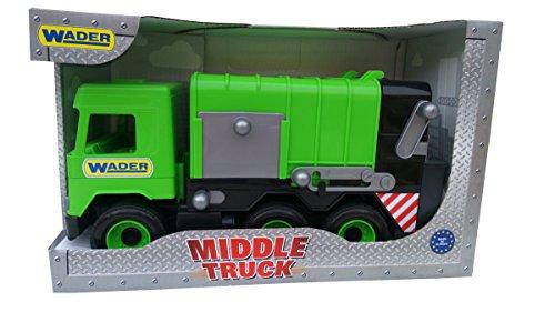 Tigres 32103 auto middenwagen vrachtwagen in een doos, kleur-groen, één maat