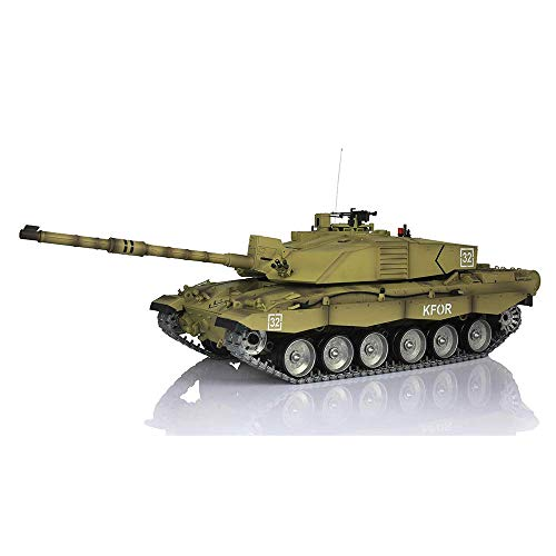 Henglong 1/16 6.0 Customize Challenger II RC Tank 3908 360° Turret Metal Tracks