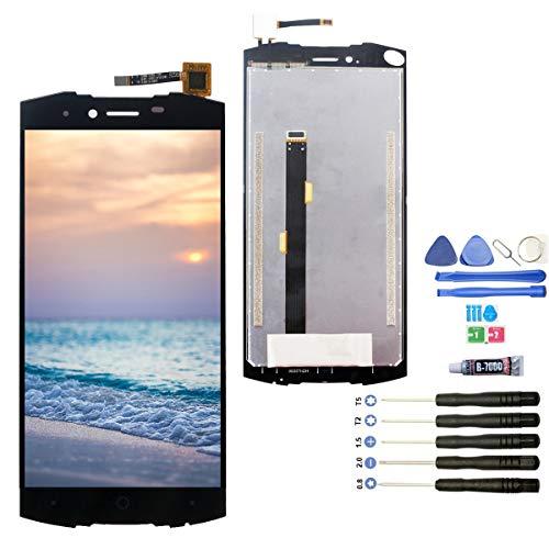 YWL-OU Ersatz-Display für Doogee S55 / S55 Lite LCD Display Touchscreen Digitizer + Werkzeugset (schwarz)