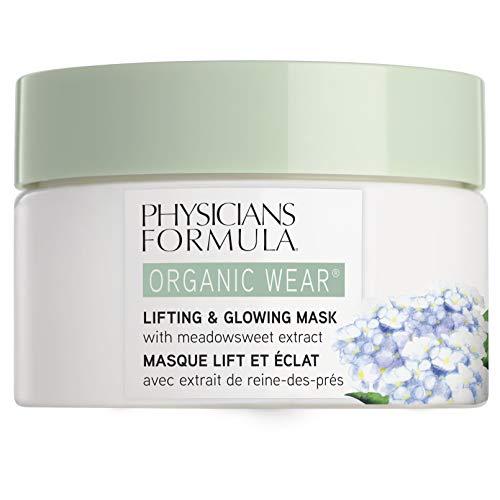 Physicians Formula - Organic Wear Lifting & Glowing Mask - Maschera Organica Rassodante e Rivitalizzante, per una Carnagione Luminosa e Naturale - con Olmaria Naturale e Aloe Vera Biologica - 50 g