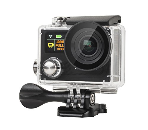 Krüger & Matz km0198 4 K Sport Action Camera (5,1 cm (2 pollici), Display LCD, 12 Megapixel, Full HD, 1080p, 30 fps Video, 30 m Profondità impermeabile, grandangolo 170 gradi per) Nero