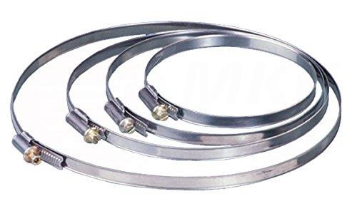 Schlauch- Rohr- Befestigungs- Schelle Ø 200-220 mm Flexrohr Rundkanal Metall Rohr Halter Band Flexschlauch Lüftung Rohr Schlauch